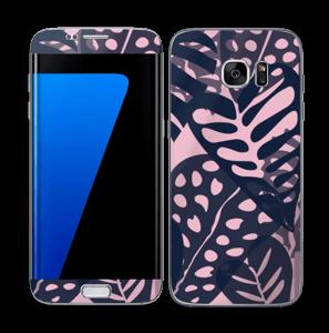Tropical Plants Navy Skin Galaxy S7 Edge