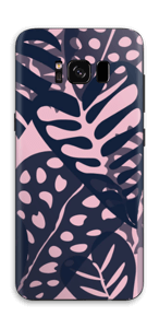 Tropical Plants Navy Skin Galaxy S8