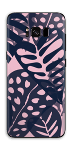 Tropical Plants Navy Skin Galaxy S8 Plus