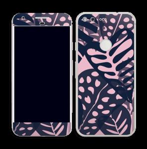 Tropical Plants Navy Skin Pixel