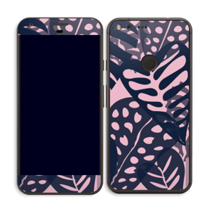 Tropical Plants Navy Skin Pixel XL