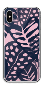 Tropical Plants Navy Skin IPhone XS