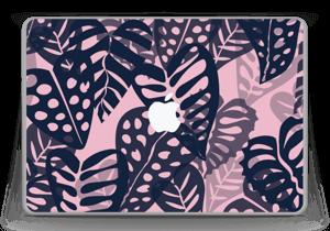 "Tropical Plants Navy Skin MacBook Pro 13"" -2015"