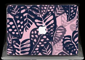 """Tropical Plants Navy Skin MacBook Air 13"""""""