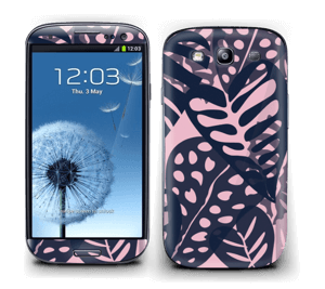 Tropical Plants Navy Skin Galaxy S3