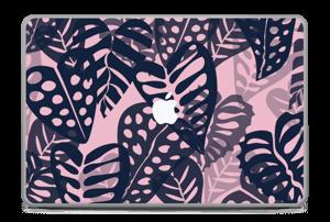 "Tropical Plants Navy Skin MacBook Pro 17"" -2015"