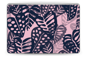 Tropical Plants Navy Skin Laptop 15.6