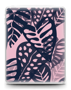 Tropical Plants Navy Skin IPad 1
