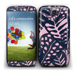 Tropical Plants Navy Skin Galaxy S4