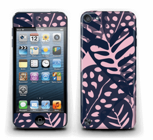 Tropical Plants Navy Skin IPod Touch 5th Gen