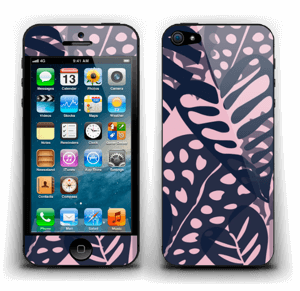 Tropical Plants Navy Skin IPhone 5