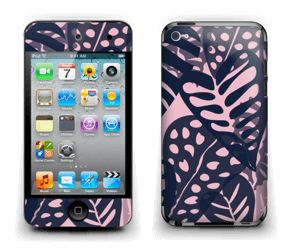 Tropical Plants Navy Skin IPod Touch 4th Gen