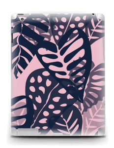 Tropical Plants Navy Skin IPad 4/3/2