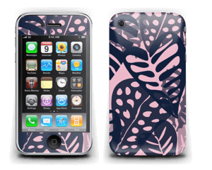 Tropical Plants Navy Skin IPhone 3G/3GS