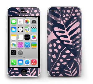 Tropical Plants Navy Skin IPhone 5c
