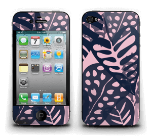 Tropical Plants Navy Skin IPhone 4/4s