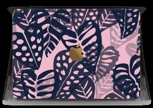 "Tropical Plants Navy Skin MacBook 12"""
