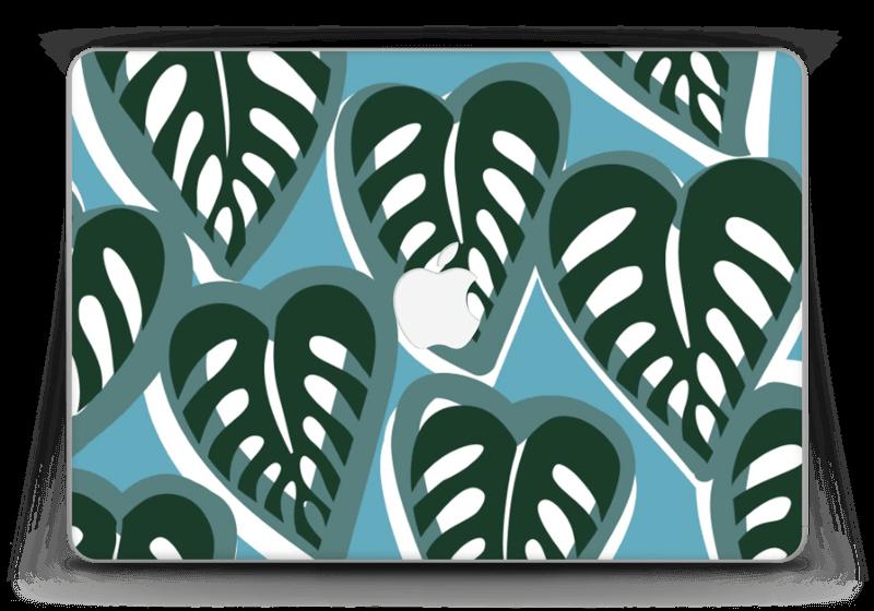 "Tropical Plants Turquoise Skin MacBook Pro Retina 13"" 2015"