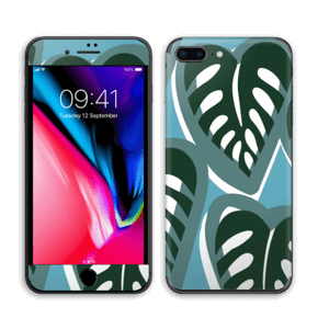 Tropical Plants Turquoise Skin IPhone 8 Plus