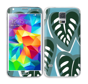 Tropical Plants Turquoise Skin Galaxy S5
