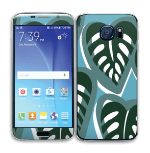 Tropical Plants Turquoise Skin Galaxy S6
