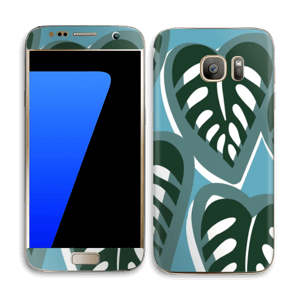 Tropical Plants Turquoise Skin Galaxy S7