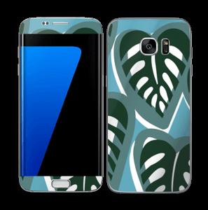 Tropical Plants Turquoise Skin Galaxy S7 Edge