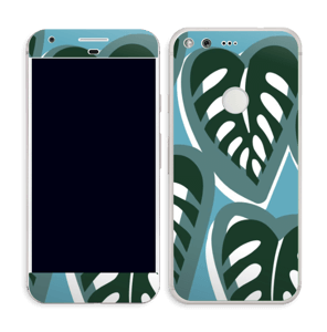 Tropical Plants Turquoise Skin Pixel