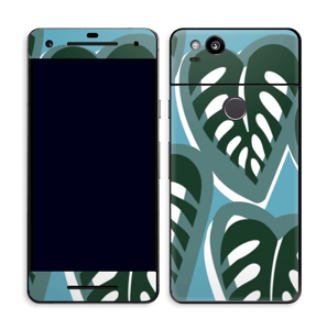 Tropical Plants Turquoise Skin Pixel 2