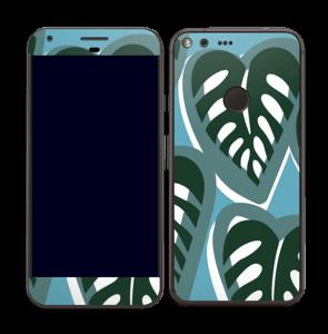 Tropical Plants Turquoise Skin Pixel XL