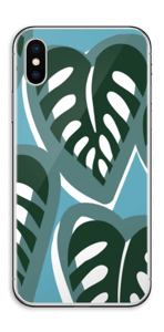 Tropical Plants Turquoise Skin IPhone XS