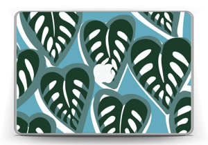 "Tropical Plants Turquoise Skin MacBook Pro 13"" -2015"