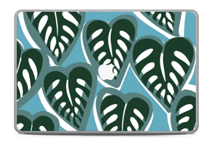 "Tropical Plants Turquoise Skin MacBook Pro 17"" -2015"