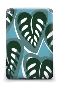 Tropical Plants Turquoise Skin IPad mini 2 back