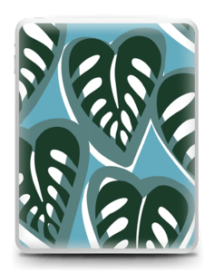 Tropical Plants Turquoise Skin IPad 1