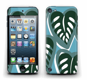 Tropical Plants Turquoise Skin IPod Touch 5th Gen