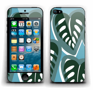 A tropical skin in the beautiful colours dusty turquoise and deep green for your laptop.
