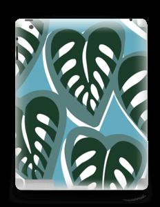 Tropical Plants Turquoise Skin IPad 4/3/2