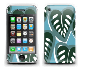 Tropical Plants Turquoise Skin IPhone 3G/3GS