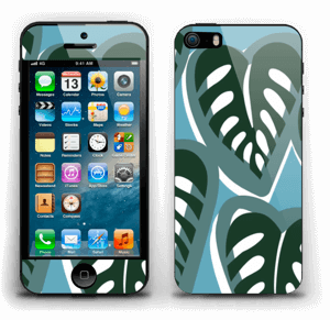 Tropical Plants Turquoise Skin IPhone 5s