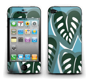 Tropical Plants Turquoise Skin IPhone 4/4s
