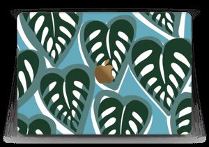 "Tropical Plants Turquoise Skin MacBook 12"""