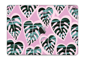 A tropical skin in the beautiful colours light violet and dusty teal for your laptop.