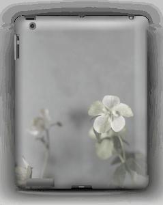 Flowery blues deksel IPad 4/3/2