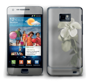 Flowery Blues Skin Galaxy S2