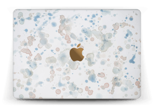 Lovely watercolor splash skin for your laptop