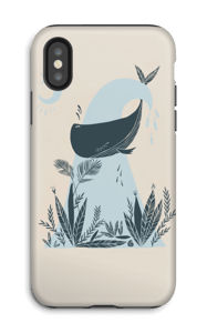 Peaceful Ocean Whale Capa IPhone X tough