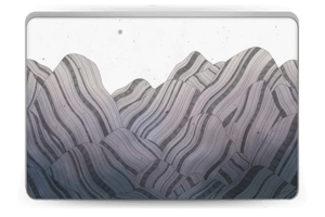 A skin with mountains for your laptop