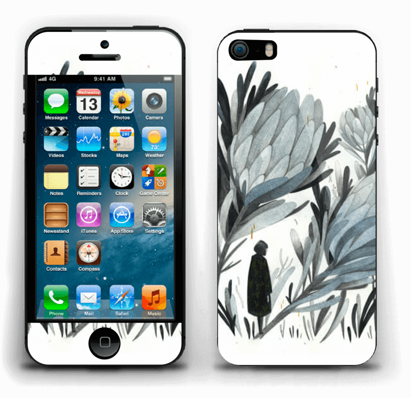 A skin in darker colors and mystic for your IPhone 5s