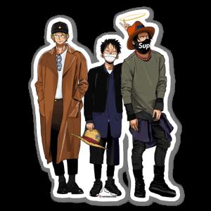 3 pirates sticker